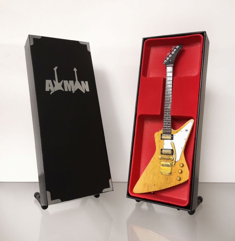 (Lynyrd Skynyrd) Allen Collins - Explorer 2003 Korina:  Miniature Guitar Replica (UK Seller)